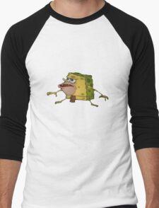 Caveman Spongebob Men's Baseball ¾ T-Shirt