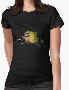 Caveman Spongebob Womens Fitted T-Shirt