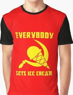 Everybody Gets Ice Cream - Yellow Graphic T-Shirt