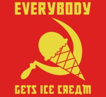 Everybody Gets Ice Cream - Yellow One Piece - Short Sleeve