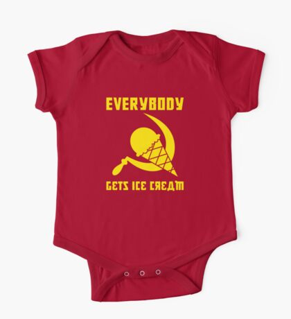 Everybody Gets Ice Cream - Yellow Kids Clothes