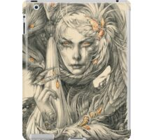 Lady with hawks and amber jewelry iPad Case/Skin