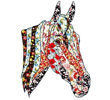 Horse Patchwork cool style  Photographic Print