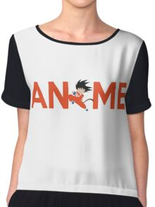 Anime Shirt Chiffon Top