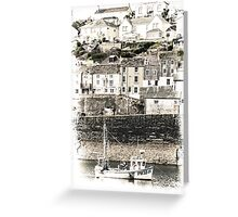 Harbour Village Backdrop - Cornwall Greeting Card