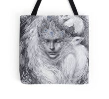 Fairy lady with white peacocks. Tote Bag