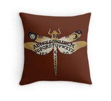 Ouija Dragonfly Sienna Throw Pillow