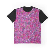 Floral Pattern-Hot Pink Graphic T-Shirt