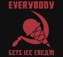 Everybody Gets Ice Cream - Red One Piece - Short Sleeve