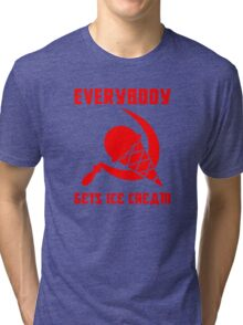 Everybody Gets Ice Cream - Red Tri-blend T-Shirt