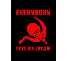 Everybody Gets Ice Cream - Red Photographic Print