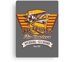 McQuack Air Charters Canvas Print