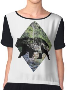"""""""The 'bear' necessities of life will come to you"""". Chiffon Top"""