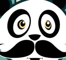 Mustache Panda Sticker