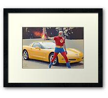 super hero fire Framed Print
