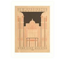 Wear Ever Building - 1914 (Orange) Art Print