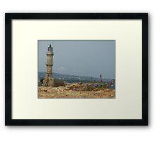 Chania Lighthouse Framed Print
