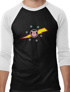 Pigs in Space Men's Baseball ¾ T-Shirt