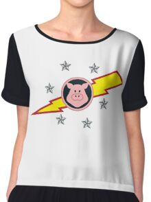 Pigs in Space Chiffon Top