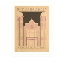 Wear Ever Building - 1914 (Purple) Art Print