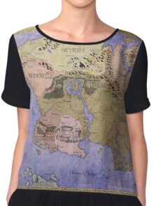 Elders Scrolls map in Ink - COLOR Chiffon Top