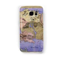 Elders Scrolls map in Ink - COLOR Samsung Galaxy Case/Skin