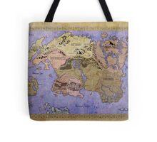 Elders Scrolls map in Ink - COLOR Tote Bag