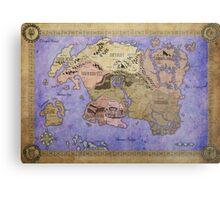 Elders Scrolls map in Ink - COLOR Metal Print
