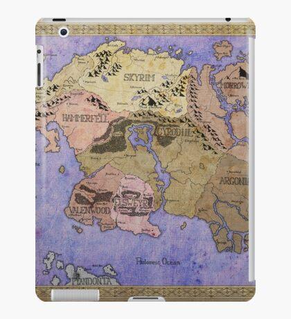 Elders Scrolls map in Ink - COLOR iPad Case/Skin