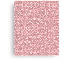 Pink Lace Pattern Canvas Print