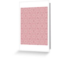 Pink Lace Pattern Greeting Card