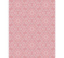 Pink Lace Pattern Photographic Print