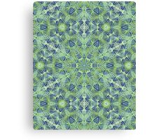 Green Lace Pattern Canvas Print