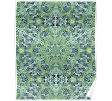 Green Lace Pattern Poster