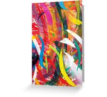 Abstract Street Art Greeting Card