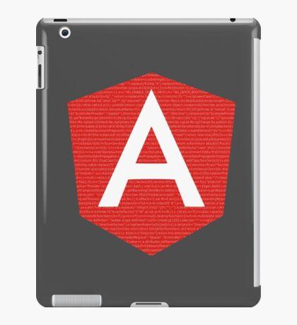 AngularJS with code background iPad Case/Skin