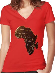 Africa the most beautiful continent Women's Fitted V-Neck T-Shirt