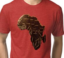 Africa the most beautiful continent Tri-blend T-Shirt