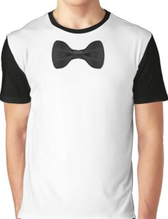 Simple Black Bow Tie Musician Graphic T-Shirt