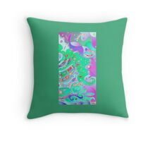 Tails - fish in sea - Seascape Throw Pillow