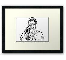 Breaking Bad - Walter White (No Colour) Framed Print