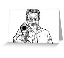 Breaking Bad - Walter White (No Colour) Greeting Card