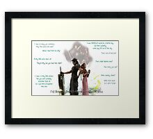 More time with you Framed Print