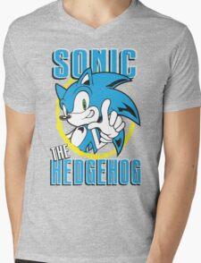 Sonic The Hedgehog Mens V-Neck T-Shirt