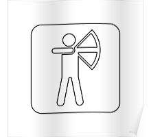 Recreational Archery Sign Symbol .  Poster