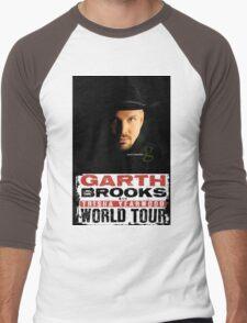 garth brooks world tour Men's Baseball ¾ T-Shirt