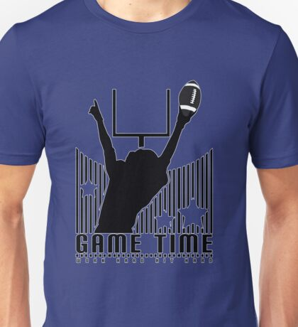 Game Time - Football (Blue) Unisex T-Shirt
