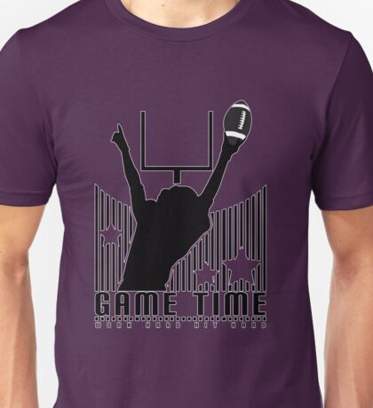 Game Time - Football (Purple) Unisex T-Shirt