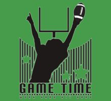 Game Time - Football (Green) Baby Tee