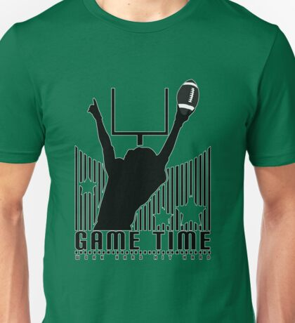 Game Time - Football (Green) Unisex T-Shirt